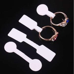 100PCs / Tasche Schmuck-Preisschild quadratisch Papier für Halskette Ring Schmuck Preisschilder Tags Anzeige Papier Preisschilder 60x12mm 50x13mm