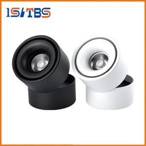 표면 탑재 미니 임베디드 COB LED 다운 라이트 5W 7W 360도 회전 LED 천장 램프 스포트 라이트 Downlight AC85-265V