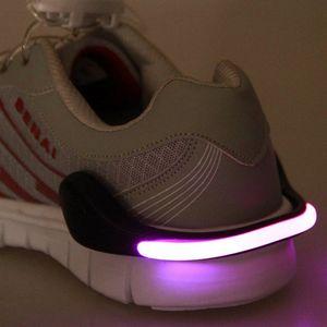 Utile outil de plein air LED clip lumineux chaussure lumière nuit avertissement de sécurité LED flash lumineux lumière en cours d'exécution vélo vélo LF050