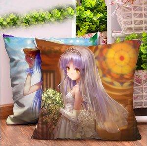 Angel Girl Мультфильм Квадратная анимация Подушка для тела Креативные подарки Диванные подушки с двухсторонней подушкой для постельного белья Домашний текстиль