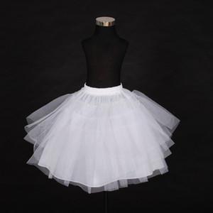2018 Envío gratis de calidad superior Stock de tres capas neto blanco una línea de vestido de niña de flores enagua / niño Crinolines / Underskirt