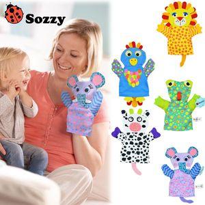 Sozzy Cartoon Animal Baby Hand Puppet Niños Finger Toy Kids Doll Regalo