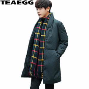 TEAEGG Plus Size 4XL Chaquetas Army Green Men Winter Winter Jacket Parka Homme Outwear Warm Feather Jacket Ropa de Hombre AL369