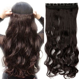 Vendita 20inches Hot invisibili Wire Nessun video in estensioni dei capelli Segreto Linea Pesce Hairpieces serica reale sintetico naturale