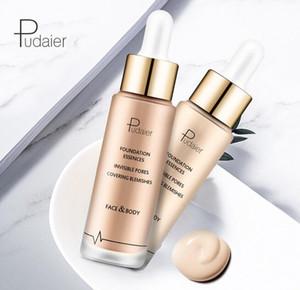 Neue Pudaier 6 Colors Foundation Wasserdichte flüssige Foundation Essenzen Unsichtbare Poren, die Blemihes Face Body bedecken