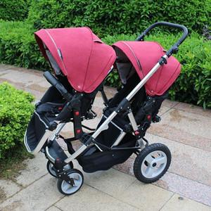 사랑스러운 만화 디자인 쌍둥이 유모차 신생아를위한 유모차 가벼운 직렬 식 접이식 유모차 2018 New Version Baby Jogger