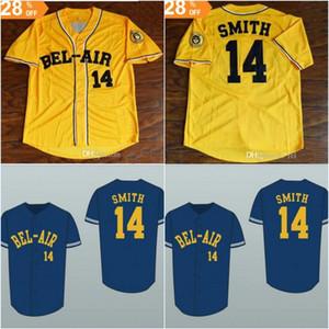 Taze Prens 14 Will Smith Bel-hava Akademisi Beyzbol Forması Dikiş Dikili Kadınlar / Gençlik Tüm Dikişli Yüksek Kalite Ücretsiz Kargo Formalar