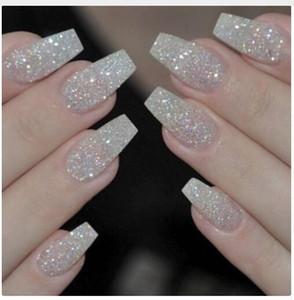 100 piezas de uñas falsas de moda Presione en las niñas dedo belleza uñas falsas uñas de plástico consejos de arte cubierta completa falso francés uñas consejos de arte