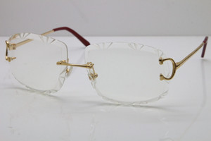 2020 Бесплатная доставка T8200762 мужчин женщин очки без оправы серебро золото металлический каркас очки Lunettes новый моде классические очки