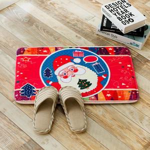 Eco Friendly 7 modelli Decorazione natalizia Bagno Carpet Super confortevole Zerbino bagno privato servizi igienici WC tappetino antiscivolo flanella Bath Mat