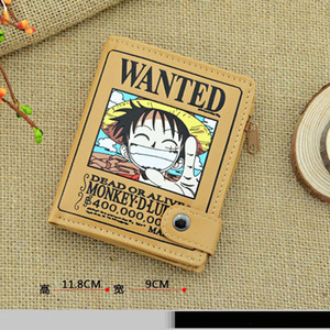 2016 NEUE EIS ANIME ONE PIECE ROAD WARRANT GELDBÖRSE BRIEFTASCHE CARTOON PIRATE FLAG VERTIKALE BRIEFTASCHE