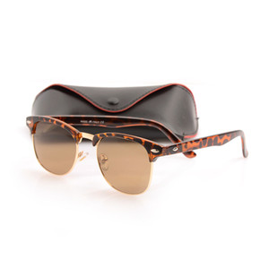 Marca Designer Óculos De Sol De Metal de Alta Qualidade Óculos De Sol Da Dobradiça Dos Homens Óculos de Sol Das Mulheres óculos de sol UV400 lente Unisex com caixas Originais e caixas
