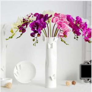 인공 꽃 진짜 터치 나비 난초 시뮬레이션 라텍스 난초 인공 식물 가짜 꽃 웨딩 홈 파티 장식