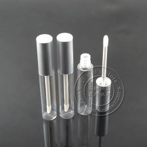 225 adet / grup 10 ml kozmetik paket dudak parlatıcısı şişe mat gümüş kap boş dudak parlatıcısı konteyner