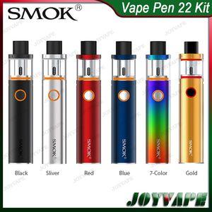 SMOK Vape Pen 22 키트 1650mah Buit-in 배터리 (상단 캡 충전 탱크 포함) AIO 스타터 키트 (구조 분리 가능) 100 % Original 083