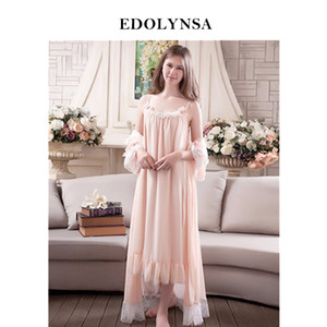 New Arrivals Lace Gown Robes Set Bathrobe Sets Sex Sexy Nightdress Westermister Robes Set Peignoir Wedding Robb Sets #H175 S1011