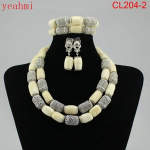 Red New Bridal Jewelry Nigerian Wedding Free African CL204-1 Gift Jewelry Set Crystal Fashion Sets Neckalce Beads Shipping Hot Nwcna