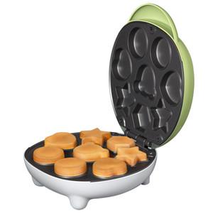 220 V 600 w Bolo Verde máquina de pão Baking breakfast Panelas de cozimento de Alumínio Elétrico automático revestimento Não-aderente 8 peças de capacidade