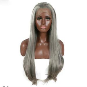 Preiswerte heiße Körper-Wellen-synthetische Perücken mit Baby-Haar-Spitzenqualität Hitzebeständige synthetische Spitze-Front-Perücke für schwarze Frauen-volle Spitzeperücke
