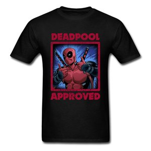 2018 le plus chaud T-shirt Deadpool 100% coton Marvel Movie T-shirts Red Ironman Red T-shirts pour le bel homme Avengers T-shirts