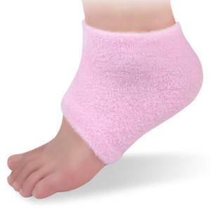 1 paio rosa gel idratante SPA Calzini al tallone Cracked Dry Hard Foot Cura della pelle Foot Care Protezioni Piedi Skin Protector Tools