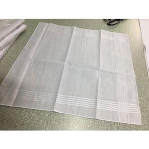 100% Algodão Lenço Branco Toalha de Mesa De Cetim Masculino Hankerchief Toalha De Malha Quadrado Sweat-absorvente Toalha De Lavar Para O Bebê Adulto WX9-479