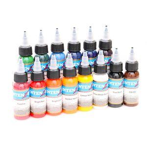 14pcs 30ml Professional Taoo Ink 14 Colors Set 1oz 30ml/Bole Taoo Pigment Kit Fashion  cosmetics Tools 14pcs