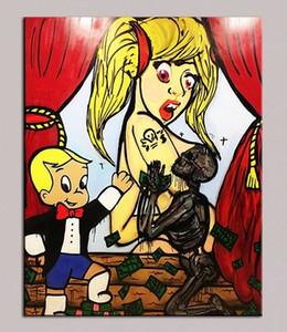 """Alec Monopoly """"MIO DIO"""" Dipinto a mano HD Stampa Graffiti Pop Wall Art Pittura A Olio Su Tela di Alta Qualità Home Decor Frame Opzioni g218"""