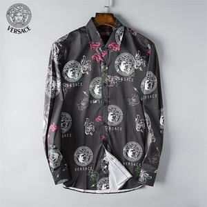 Nuova camicia da uomo a maniche lunghe da uomo 2018 stile europeo e americano per il tempo libero di alta moda designer di alta moda C39