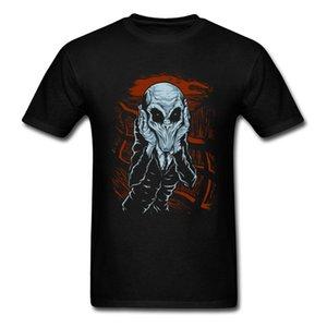 Um Grito De Silêncio T Camisa de Algodão T-shirt Dos Homens Design Exclusivo Tshirt Roupas de Verão Alienígena Comic Top Tees de Fitness