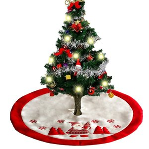 36Inch Albero di Natale Gonne Holiday Tree Ornaments Gonna peluche Decorazione per la decorazione di Natale Festa di Capodanno