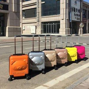 Kids Travel Cajas de equipaje Nuevo Estéreo 3D Bear Bear Bear Box Cajas Frutas Colores Cajas de Embarque Niños Universal Rueda Maleta