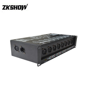 80% İndirim Lumiere Luces DMX512 1990 Standart Sinyal Dağıtıcı 8DMX 110 V 230 V Amplifikatör Splitter Tekrarlayıcı XLR Pin3 CE UL Sertifikası