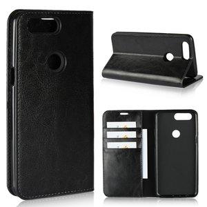 OnePlus 5 T için Geniune Deri Flip Case Cüzdan Funda Kitap Kapak Telefon Aksesuarları Coque