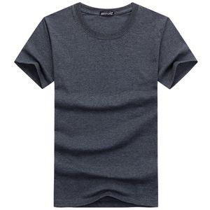 2018 Summer Cotton Mens T Shirts Fashion Short-sleeve Pure color Male Tops Tees Hip Hop Sport Clothes black white Plus Size S-5XL