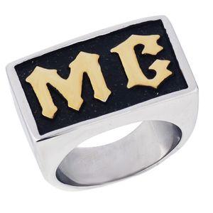 Мужчины кольцо панк-рок старинные мотоцикл MC кольца 2018 Новый нержавеющей стали покрытием байкер MC кольцо мотоцикл байкер кольцо для мужчин