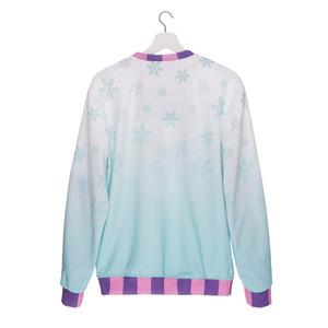 Esplosioni 3 d stampa digitale Maglione abbigliamento donna europea ed americana in autunno e giacca invernale set camicia di fondo