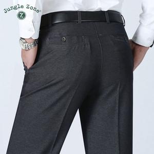 ZONA DE SELVA Pantalones de hombre de gran tamaño Hombres de negocios de verano pantalones de traje formal, boda novio novio 30 ~ 40 color gris y negro