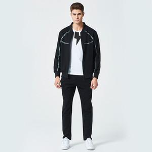 Nouveau Mode Survêtement Zipper Design Pull Avec Pantalon Costumes Casual Coton Pour Printemps Automne Hommes Sport Usure US Taille
