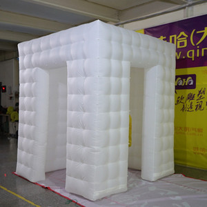 PhotoBooth inflable con colores blanco conducido Plaza inflable Photo Booth