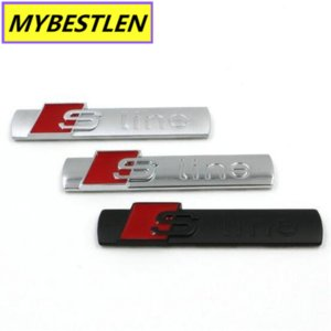 GREB01 Metal car styling S-LINE Car Door Tail Emblem Badge Car Stickers For audi AUDI A2 A3 A4 A6 A6L A8 A7