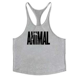 Animal Gyms Tank Top Hombre Ropa de entrenamiento Culturismo Stringer Men Muscle Chalecos de algodón Y espalda Singlets debardeur fitness homme