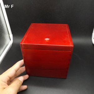 Old Red Color 13 cm Wood Magic Box Puzzle Special Mechanism Game Brain Teaser Toy Collection