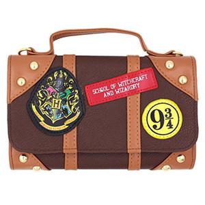 Bolsa de Harry Potter Carteira Hogwarts Escola de Feitiçaria Bolsa Crossbody bolsa de ombro marrom elegante