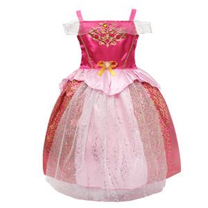 2018 Fashion Sale Kids Dresses Lace Girls Dresses Bambini Evening Party Ball Gown Principessa Kids Show Abbigliamento