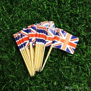 파티 칵테일 나무 이쑤시개 종이 깃발 월드컵 DHL 국기 이쑤시개 컵 케이크 토핑 미국 영국 식품 추천