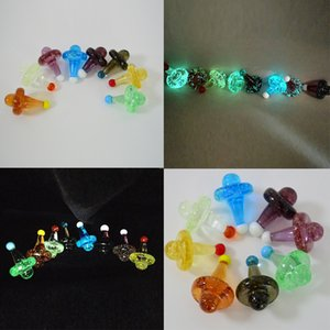 Luminoso Bubble Carb Cap Glass Carb Caps colorati Carbs Caps OD 22mm Glow in the Dark Cappelli Magic Witch Hat Christmas Hat Smoking Accessories