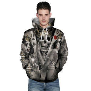 Wholesale free shipping New Fashion Men Women 3d Hoodies Print Metal Skulls Bride Groom Hooded Hoodies Thin 3d Sweatshirts Hoody Tops