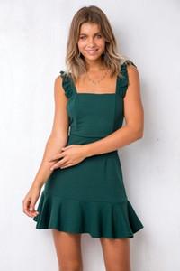 Nuevos vestidos de verano de la manera Bodycon sin tirantes del imperio de la falda de cola de pescado de las mujeres Sexy Casual vestido diario S-2XL