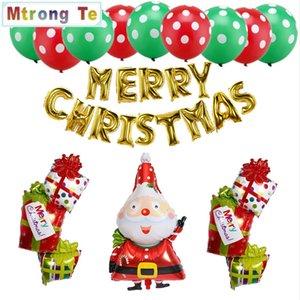 29pcs albero di natale Old Man Pupazzo di neve Little Boy Christmas Decoration Balloon forniture per feste di nozze Capodanno regalo di Natale